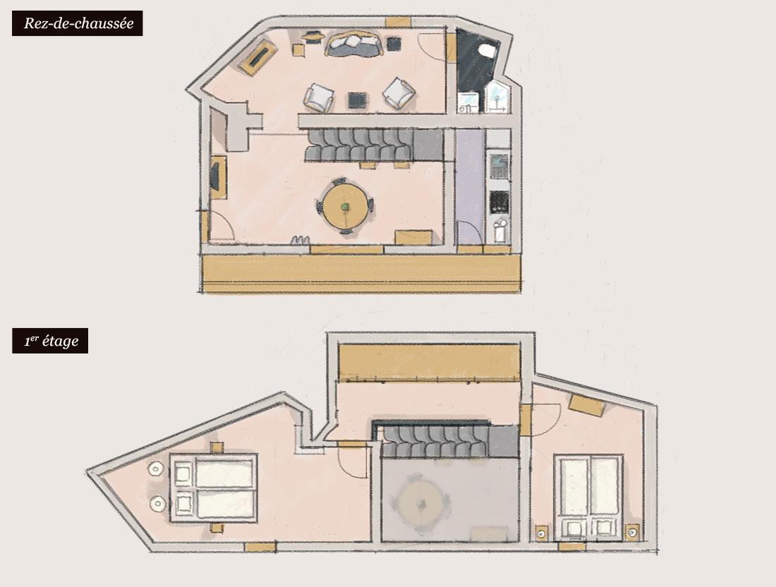 Plan du Gîte « Veilleur »