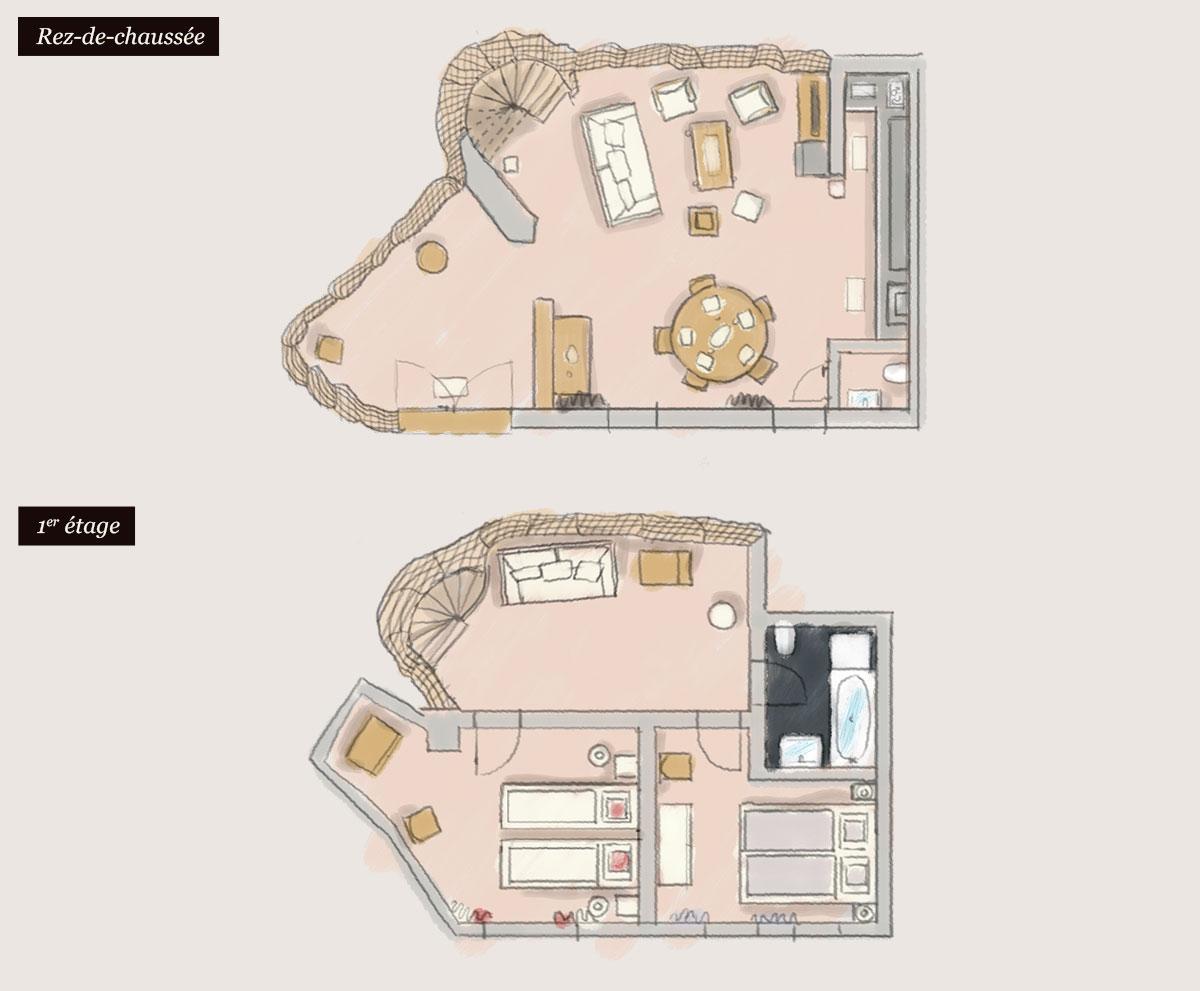 Plan du Gîte «Winstub»
